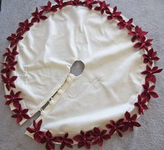This past weekend I spent a good chunk of my time working on a Christmas tree skirt. I had written a previous post regarding my options a...