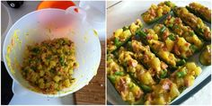 Zucchine farcite ricetta fagiolini patate mortadella uova cucinare statusmamma foto blog