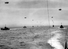 8 Allied convoys of ships on the open sea - June 1944. (Regional Council of Basse-Normandie/U.S. National Archives) #