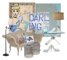 """Cinderella Darling..."" by kimberlyd-2 ❤ liked on Polyvore featuring interior, interiors, interior design, home, home decor, interior decorating, PiP Studio, OKA, Basset Mirror Company and Universal Lighting and Decor"