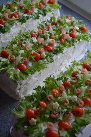 Kirsin keittiössä: Kinkkuvoileipäkakku Sandwich Cake, Sandwiches, Antipasto, Cheesecakes, Finger Foods, Food Art, Food To Make, Food And Drink, Snacks