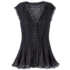 Lace Godet Top - New Age, Spiritual Gifts, Yoga, Wicca, Gothic, Reiki, Celtic, Crystal, Tarot at Pyramid Collection - also in white