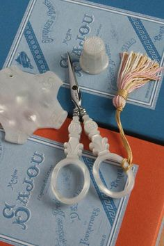 Mother of Pearl sewing set.