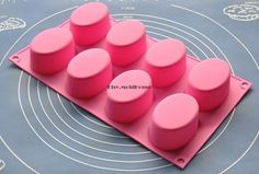 Big Ovals Flexible Silicone Mold Cake Mold Chocolate by MoldHouse, $4.99