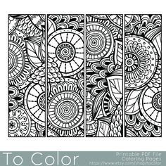 Sweets Bookmarks PDF Zentangle Coloring Page Bookmarks