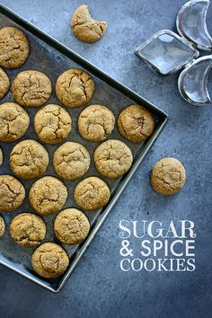 Soft and chewy sugar and spice cookies made with molasses and five spices   Kailley's Kitchen