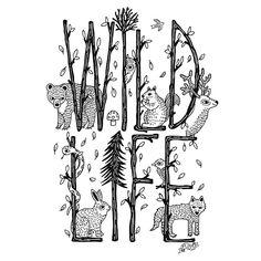 'WILDLIFE' T-shirt design for @fussbrasil