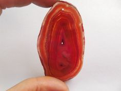 1MM Hole Orange Natural Druzy Geode Agate Slice Freefrom Pendant Bead 66x38x5mm