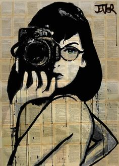 "Saatchi Art Artist Loui Jover; Drawing, ""the photographer"" #art"