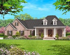Great Open Floor with Options - 11705HZ | 1st Floor Master Suite, Acadian, CAD Available, Corner Lot, European, French Country, Metric, PDF, Photo Gallery, Southern, Split Bedrooms, Traditional | Architectural Designs
