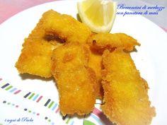 Bocconcini di merluzzo con panatura di mais. Croccanti e… senza glutine!