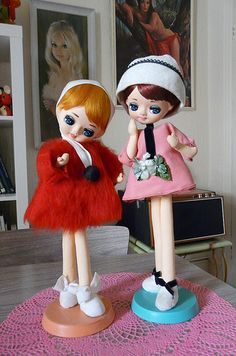 Vintage Kitsch Japan 1960s Pose Dolls
