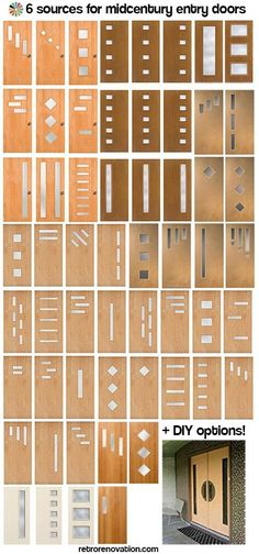 Doors galore - 6 places to find midcentury modern entry doors + DIY tips