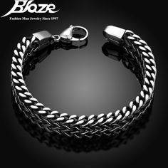 Men's Stainless Steel Wrist Band Hand Chain