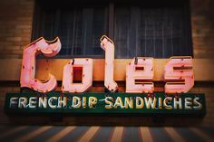Cole's French Dip Sandwiches Los Angeles Art Neon Sign image 0