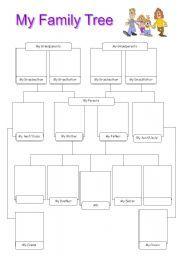 My Family Tree Worksheet | My Family Tree - worksheet by Annamaria