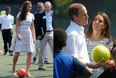 Wow...she's brave! Playing soccer in a dress!!