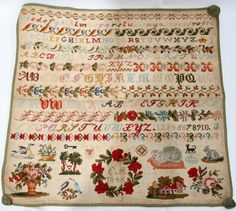 A 19th Century Sampler ~ Possibly EUROPEAN ~ Dated 1845