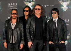 Sergio Vallin, Juan Diego Calleros, Fher Olvera, and Alex Gonzalez (from left), members of the Mexican group Maná,
