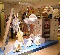Pin by decorators finest on baby toddler display ideas Shop Window Displays, Store Displays, Baby Store Display, Display Design, Display Ideas, Store Interiors, Shop House Plans, Kids Store, Baby Boutique