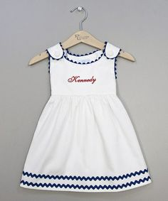 White & Red Personalized Jumper - Infant, Toddler & Girls by Princess Linens #zulily #zulilyfinds