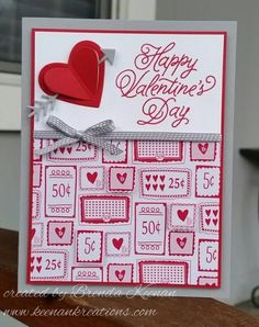 Create some quick and easy Valentine cards using new products from the 2017 Occasions Catalog from Stampin' Up! Homemade Valentine Cards, Valentine Love Cards, Simple Christmas Cards, Valentines Diy, Homemade Cards, Holiday Cards, Saint Valentine, Wedding Cards Handmade, Greeting Cards Handmade