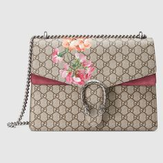 Gucci Women - Dionysus Blooms print shoulder bag - 400235KU23N8693