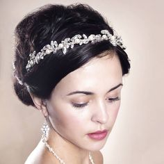 Handmade Jasmine Wedding Tiara by Rosie Willett Designs, the perfect gift for Explore more unique gifts in our curated marketplace. Wedding Tiaras, Diy Wedding Hair, Headpiece Wedding, Bridal Headpieces, Wedding Doll, Wedding Veils, Wedding Stuff, Dream Wedding, Wedding Dresses