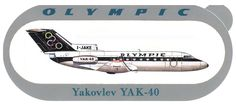Olympic Airways Sticker Yakovlev Yak-40 Olympic Airlines, Olympics, Greece, Aircraft, Advertising, Sticker, Europe, Greece Country, Aviation