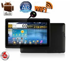 """www.wirelessandroid.com/irulu-7-google-android-4-03-os-5-point-capacitive-multi-touchscreen-widescreen-4gb-computer-internet-tablet-pc/   iRulu 7"""" Google Android 4.03 OS 5-point Capacitive Multi-Touchscreen Widescreen 4GB Computer Internet Tablet PC (Allwinner A13 1.2 GHZ + GPU Mali 400 MP) 512MB DDR3 Flash Player 11.1 Dual Cameras With G Sensor, Black"""