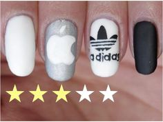 [T.N.A] Nail Art Facile : Marques♡ - YouTube