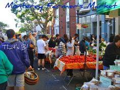 The Farmers' Market in Monterey, California. Hello, bliss!