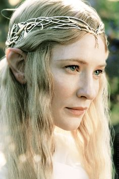Galadriel, most beautiful of all the house of Finwë; her hair was lit with gold as though it had caught in a mesh the radiance of Laurelin.