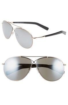 5086bdd8d1 Tom Ford  Eva  61mm Aviator Sunglasses shown in Rose Gold Grey Mirror Silver