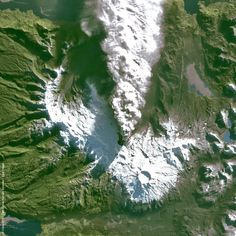 A picture taken by the Spot 4 satellite shows the creation of a new crater in the Puyehue Cordon-Caulle volcanic complex, Chile