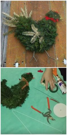Christmas Craft Ideas Pinterest Favorites | The WHOot Pine Cone Christmas Tree, Christmas Tree Branches, Christmas Wreaths To Make, Christmas Mason Jars, Holiday Wreaths, Christmas Projects, Holiday Crafts, Christmas Time, Christmas Decorations