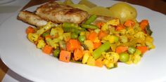 PEČENÉ RYBÍ FILE, s brambory a zeleninou