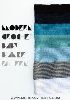 Modern Crochet Baby Blanket Pattern