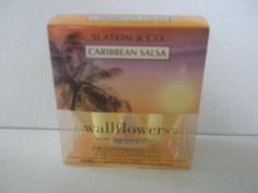 Bath & Body Works Slatkin & Co. Caribbean Salsa Wallflower Home Fragrance Refills by Bath & Body Works. $9.99. Created by world-renowned home fragrance expert, Harry Slatkin. Scent any room 24/7 with Noticeable Freshness for weeks and weeks (Diffuser sold separately). Contains: 2 Home Fragrance Bulbs (0.8 fl oz/24 ml per bulb). Spread true-to-life fragrance and lasting freshness into any room!. One Box of Two Slatkin & Co. Caribbean Salsa Wallflower Refill Fragrance Bulbs.