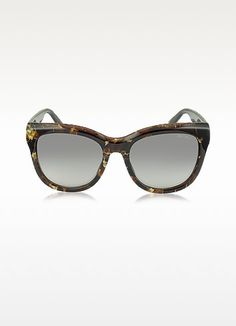 e5feb755b26 JIMMY CHOO Nuria S W036P Dark Brown Acetate Cat Eye Sunglasse.  jimmychoo
