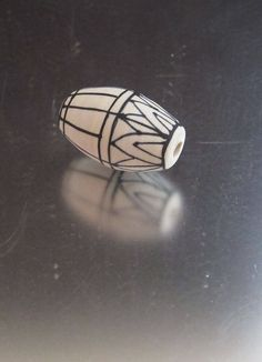 OOAK Glass Lampwork Bead - Barrel - ETCHED