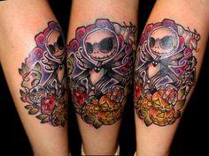 Jack Skellington tattoo by Chris Akins @ Area 51 Tattoo