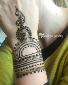 Natural Henna / Mehndi for Wrist and Arm . Henna by Jorietha Natural Henna, Henna Mehndi, Mehndi Designs, Hand Tattoos, Arms, Mehandi Designs, Weapons