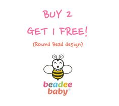 Buy 2 Get one Free! (Round Beads) - Chewable, Nursing, Breastfeeding, Teething, Babywearing Chew Necklace - 100% Non Toxic BPA Free Silicone...