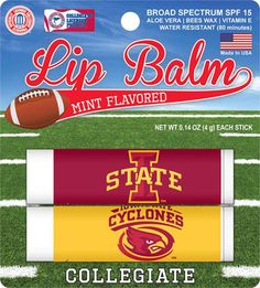 Iowa State Cyclones 2 Pack Lip Balm - Crimson