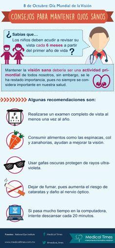 Consejos para Mantener Ojos Sanos, Medical Times , Infografía Médica