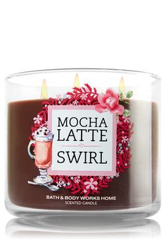 Mocha Latte Swirl 3-Wick Candle - Home Fragrance 1037181 - Bath & Body Works