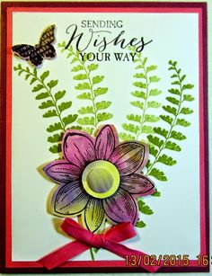 Crafty Maria's Stamping World: Sending Wishes Your Way