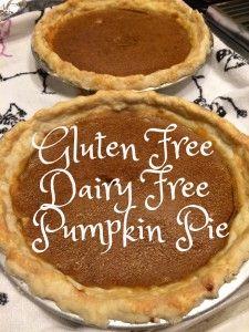 Best Gluten-Free Dairy-Free Pumpkin Pie from @AmyFothergill