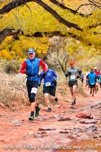 Moab Trail Half Marathon, Utah, USA, November 5th and 6th, 2016. Unique, wild and spectacular course in the canyons around Moab. 2 major climbs with elevation gain and loss of ca 3500 ft. top runners will run all but the fixed rope section and are expected to finish in less than 4 hours. Average runners will do a combo of running with a bit of walking and are expected to finish in the 5 to 6 hr range.
